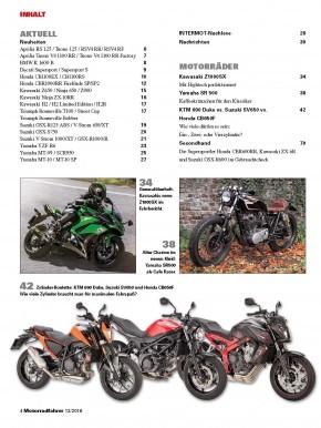 MOTORRADFAHRER Dezember 2016 gedruckte Ausgabe