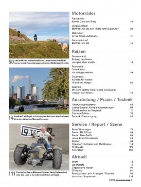 TOURENFAHRER September 2015 gedruckte Ausgabe